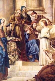El Niños Jesús en el templo Templo